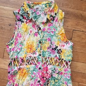 Tops - Lucca Couture Floral Tank Top